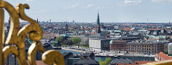 Photo from roof top on Danmarks Nationalbank