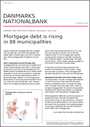Mortgage debt is rising in 88 municipalities