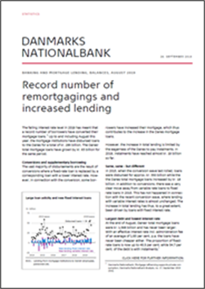 Record number of remortgagings and increased lending