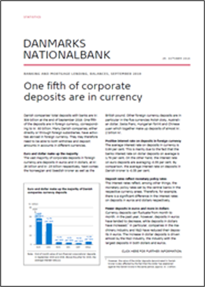 One fifth of corporate deposits are in currency