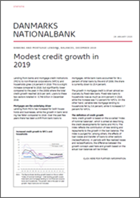 Modest credit growth in 2019