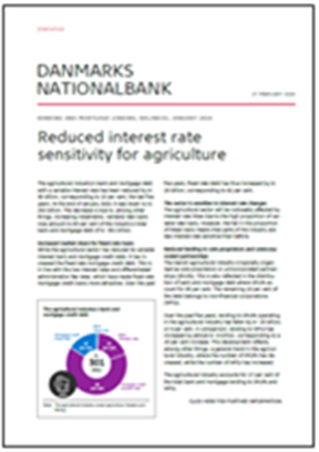 Reduced interest rate sensitivity for agriculture