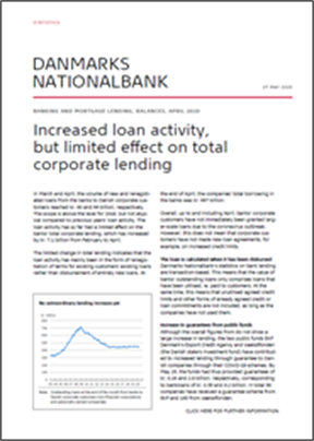 Increased loan activity, but limited effect on total corporate lending