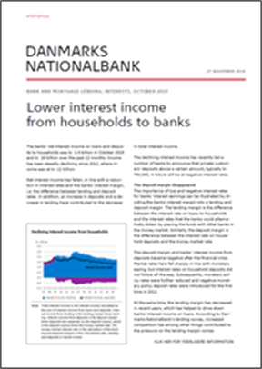 Lower interest income from households to banks
