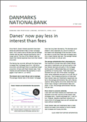 Danes' now pay less in interest than fees
