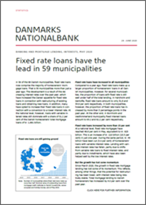 Fixed rate loans have the lead in 59 municipalities