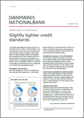 Slightly tighter credit standards