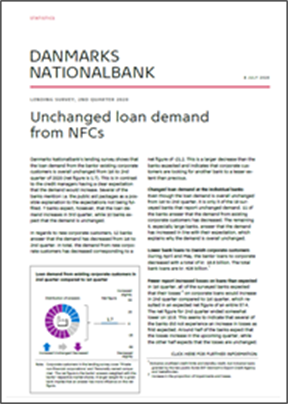 Unchanged loan demand from NFCs