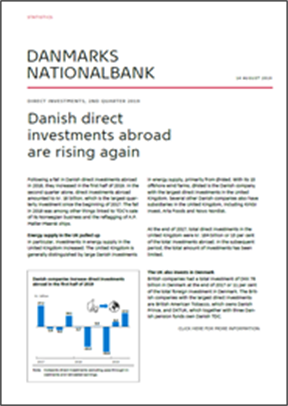 Danish direct investments abroad are rising again