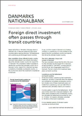 Foreign direct investment often passes through transit countries
