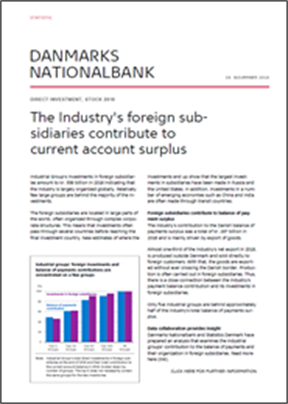 The Industry's foreign subsidiaries contribute to current account surplus