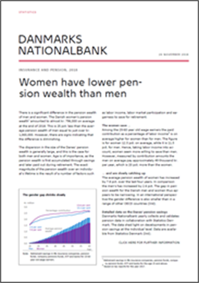 Women have lower pension wealth than men