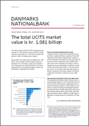 The total UCITS market value is kr. 1.081 billion