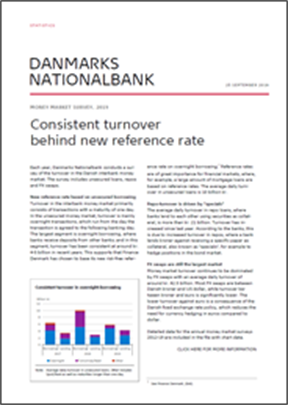 Consistent turnover behind new reference rate