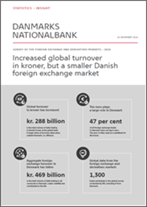 Increased global turnover in kroner, but a smaller Danish foreign exchange market