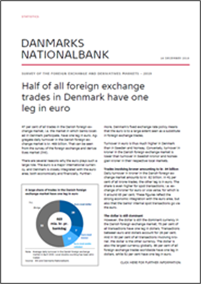 Half of all foreign exchange trades in Denmark have one leg in euro