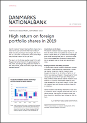 High return on foreign portfolio shares in 2019
