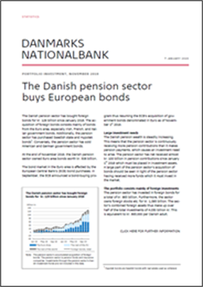 The Danish pension sector buys European bonds