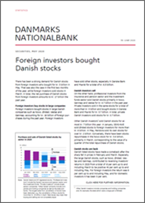 Foreign investors bought Danish stocks